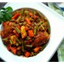 Chicken with Green Beans and Carrots (Khorak-e Morgh) Recipe